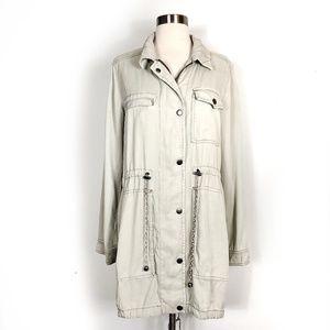 Anthropologie manto long coat utility jacket